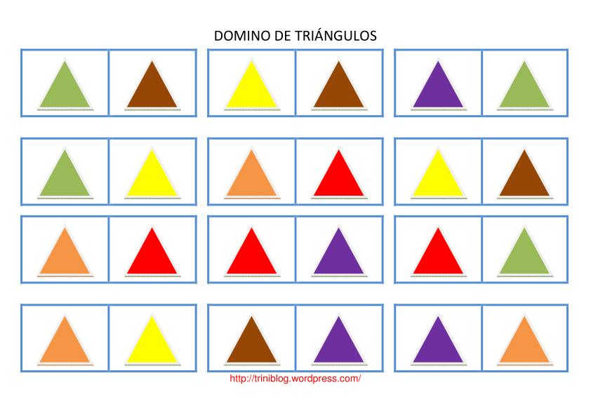 Dominos Formas Geom  Tricas  Tri  Ngulos