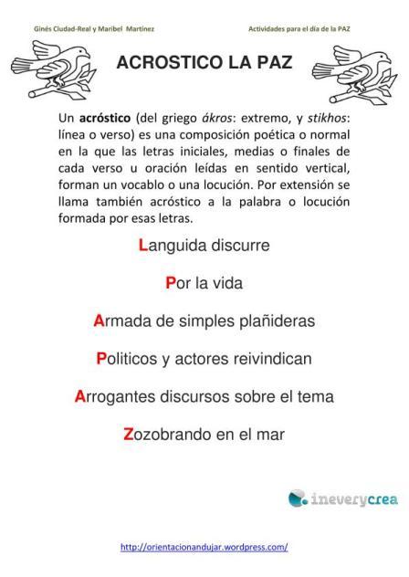 METODOLOGIA DE LA HISTORIA 2011: acrosticos